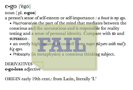 Ego=Fail